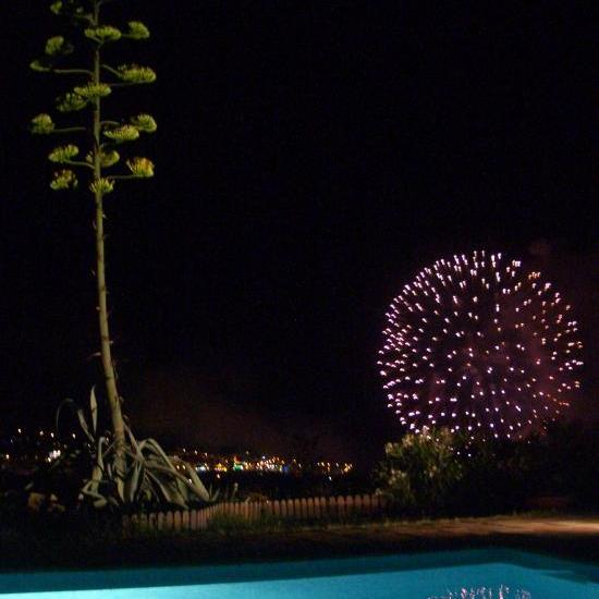night fireworks on august 15