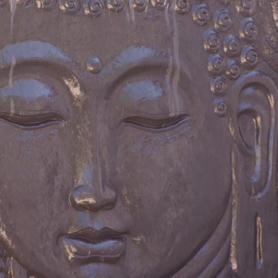 tête de Bouddha de face