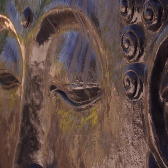 détail tête de Bouddha