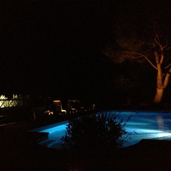 night view of the pool 2