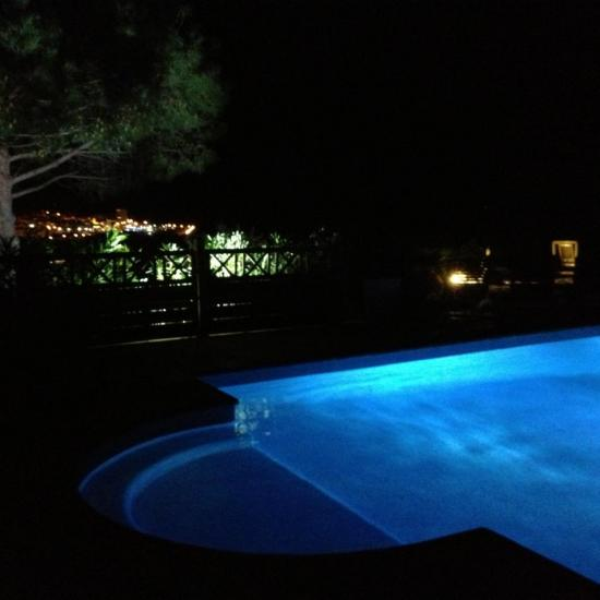 night view of the pool 3